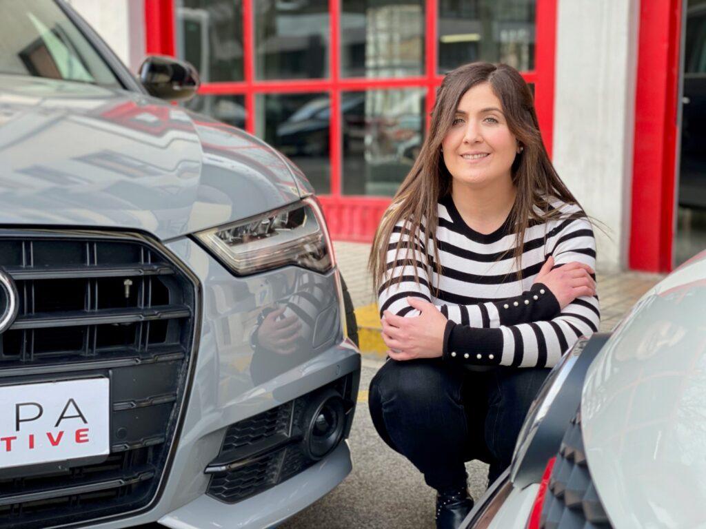 Patricia Lizari. Una mujer al volante de un negocio del motor.